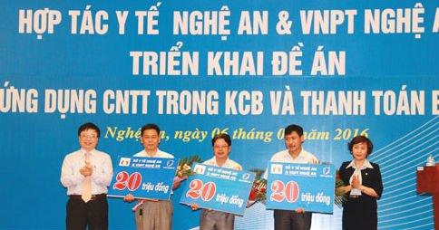 Sơ kết thực hiện hợp tác VT-CNTT giữa VNPT Nghệ An và Ngành Y tế Nghệ An