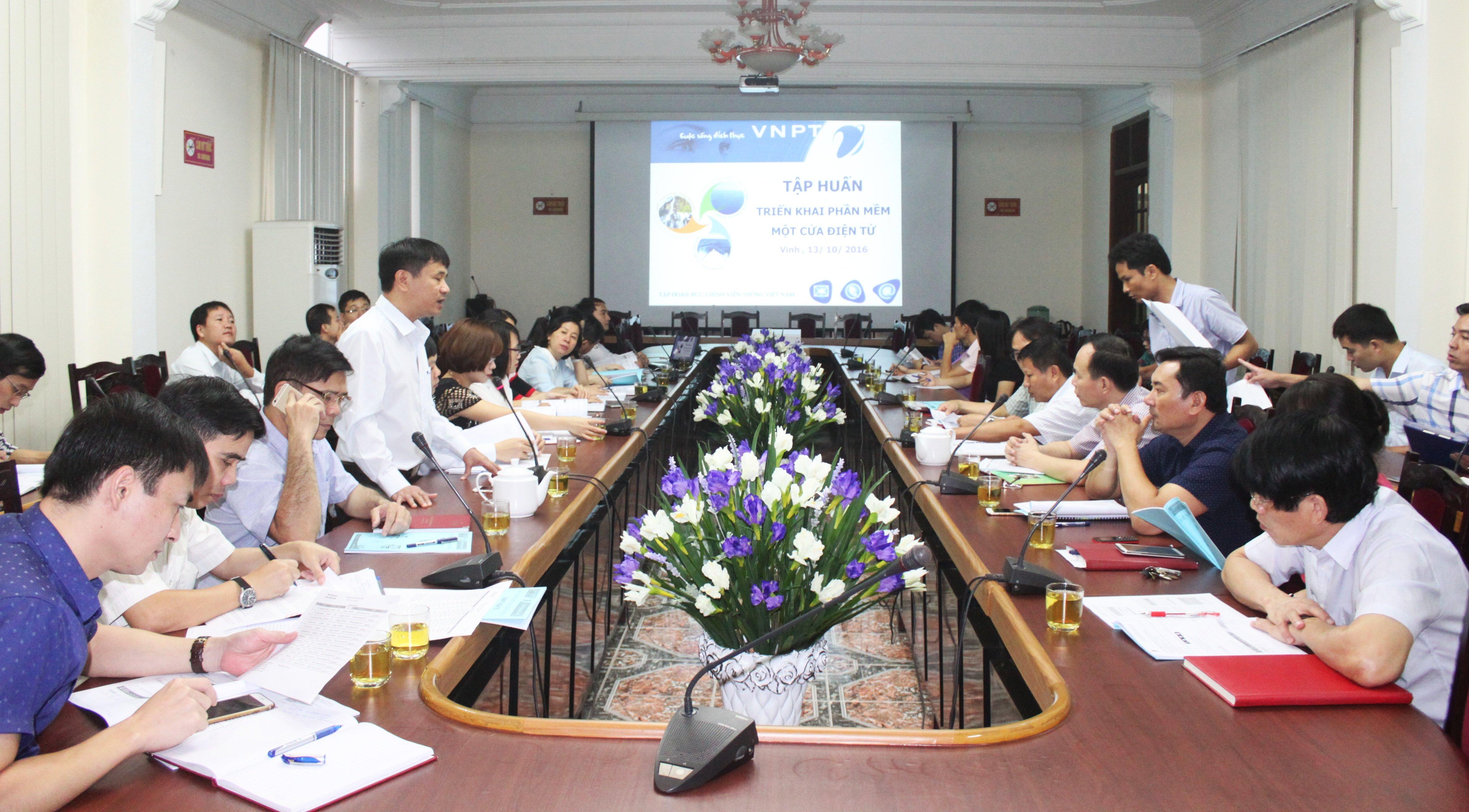 VNPT Nghệ An tập huấn triển khai sử dụng Phần mềm VNPT- iGate cho UBND Thành Phố Vinh